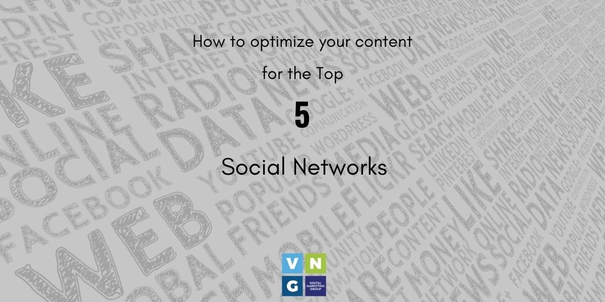 Πως θα Βελτιστοποιήσετε το περιεχόμενό σας για τα Top 5 Κοινωνικά Δίκτυα